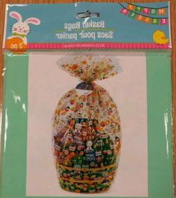 NIP 2 Happy Easter Bunny Chicks Eggs Basket Bags w/ Tag Gift