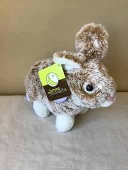 NWT Animal Adventure Brown White Easter Bunny Plush Stuffed