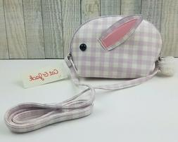 NWT Cat & Jack Girls Easter Bunny Crossbody Bag Purse Lilac