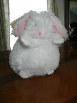 NWT Easter Bunny RABBIT White Soft Fluffy Pink Ears Stuffed