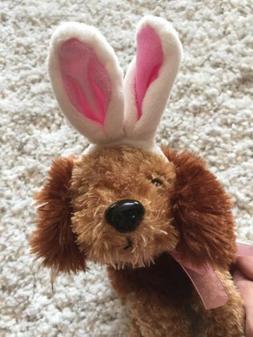 NWT Dan Dee Easter Stuffed Animal Plush Dog W/ Bunny Ears