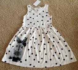 NWT H&M Cotton Dress 4-6 Yrs 110/116  Bunny Rabbit Animal EA