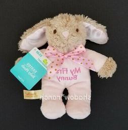 NWT Dan Dee Pink My First Bunny Plush Easter Stuffed Rattle