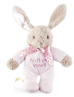 NWT Dan Dee Pink My First Easter Bunny Plush  Rattle Lovey T