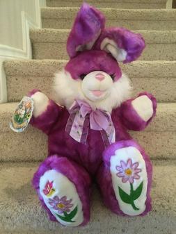Dan Dee NWT Plush Purple Hoppy Hopster Easter Bunny Rabbit G