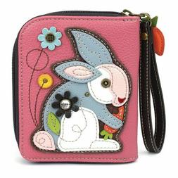 nwt vegan zip around wallet wristlet bunny