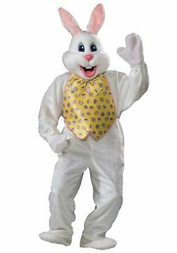 Easter Bunny Rabit Deluxe Adult Mascot Costume Plush Jumpsui