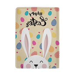 Passport Cover Easter Bunny Eggs Leather Passport Holder for
