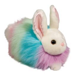 "Douglas Pastel Rainbow 9"" Bunny plush stuffed animal Easter"