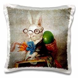 3dRose pc_178099_1 Vintage Easter Bunny in Glasses Digital A