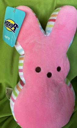 "PEEP 9"" Plush PEEPS Easter PINK BUNNY BEAN BAG Large Stuffed"