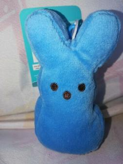 Peeps Blue Easter Bunny Stuffed Animal Plush Toy Clip Keycha
