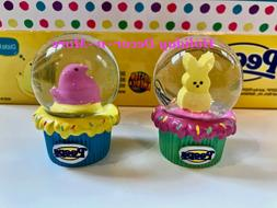 PEEPS MINI SNOW GLOBE COLLECTIBLE BUNNY CHICK EASTER BASKET