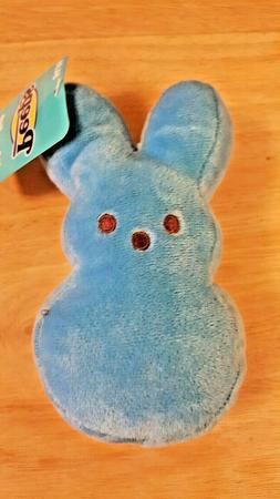 PEEPS Plush Bunny Rabbit 6 inch Blue Stocking Stuffer Filler