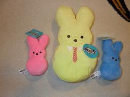 Peeps Plush Stuffed Easter Bunny FOUR 6 inch