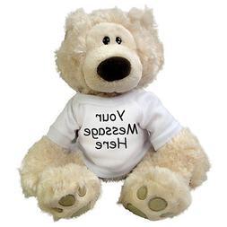 Personalized Teddy Bear - 12 inch Gund Philbin Bear, Beige
