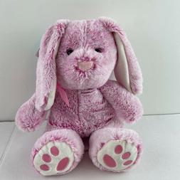 Pink & Mint Bunny Plush Stuffed Animal W/ Floppy Ears Set