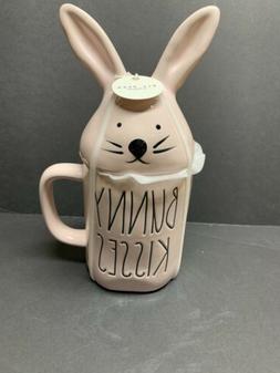 pink bunny kisses easter mug with bunny