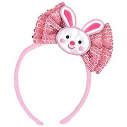 Amscan Pink Easter Bunny Bow Headband | Party Accessory