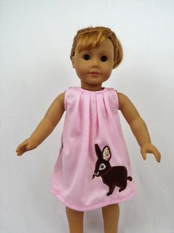 """Pink Easter Bunny Dress Jean Vest Set Fits 18"""" American Girl"""