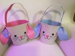 PINK ONLY! Easter Basket - Easter Bunny Shaped Basket Pail N