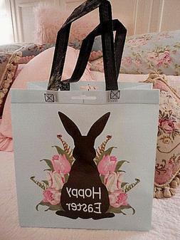 ❤️ PINK tulips HOPPY Easter BUNNY rabbit Reusable CHIC S