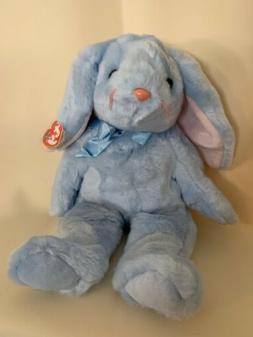 Ty Beanie Buddy Plush Blue Easter Bunny Flippity Vintage Stu