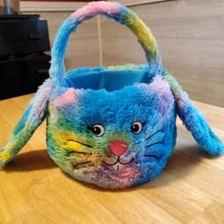Plush Easter Bunny Basket with floppy ears. Cute!
