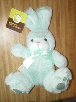 "Plush Easter Bunny by Animal Adventure NEW Green, 11"" Tall"