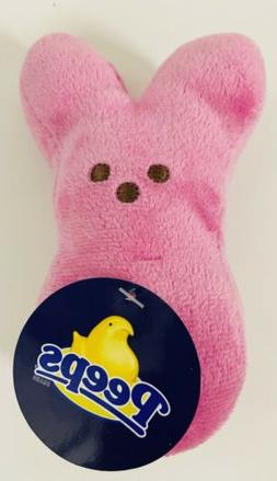 PEEPS Plush Easter Bunny Pink barely NWTs