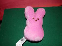 PEEPS Plush Easter Bunny with Marshmallow Candy Pink New