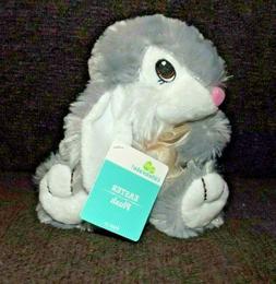plush gray bunny 7 stuffed animal floppy