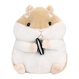Showking Plush Hamster Toy, 23CM Adorable Kawaii Fluffy Hams