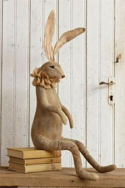 "Primitive Bunny Rabbit Easter Decor Long Ears Legs 30"" Grung"
