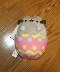 "Gund Pusheen 6"" Easter Egg Plush Soft Stuffed Toy Grey Pink"