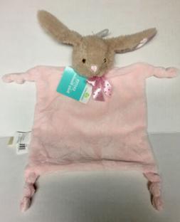 Dan Dee Rabbit Bunny Baby Lovey Security Blanket Rattle Pink