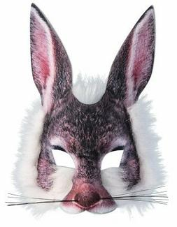 Rabbit Mask 3D Screen Print Realistic Look Soft Face Mask Fu