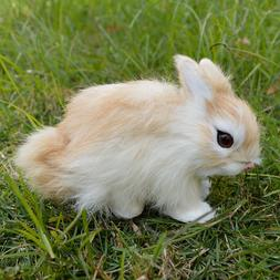 Realistic Rabbit Handmade Easter Bunny Fur Animal Figurine H