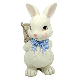 Transpac Resin Bunny Basket Container Figurine