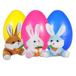 75d6e1796fcf02 WeYingLe Toy Eggs Filled with Rabbits ,Reusable Easter Eggs,