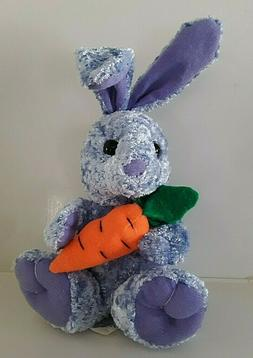 """Rhode Island Novelty 9"""" Chenille  Purple Bunny With Carrot B"""