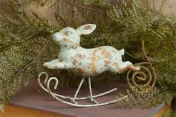 Rocking Rustic Bunny Rabbit Figure
