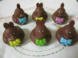 sale 6 chocolate easter bunny rabbit rubber