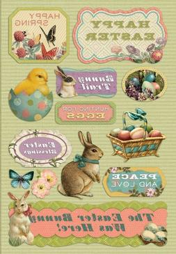 Scrapbooking Crafts KF Stickers Easter Bunny Was Here Huntin