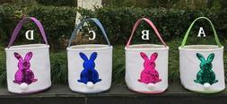 Sequin Bunny Easter Basket