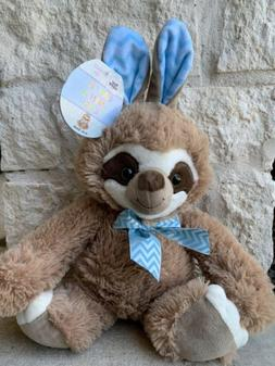 "Sloth Bunny Plush Easter Basket Stuffed Animal Toy 16"" NEW"