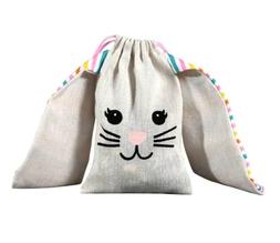 SO CUTE! Pair of Easter Bunny Cotton Treat Candy Sacks Bags