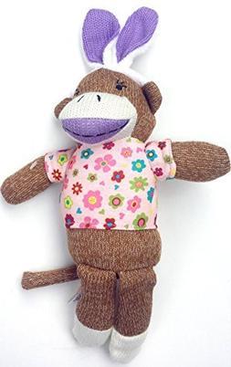 Dan Dee Sock Monkey Bunny ~ Girl Lavender
