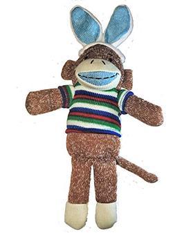 Dan Dee Sock Monkey Bunny ~ Boy Blue