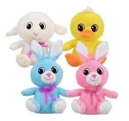 Soft Cuddly Plush Animals, Bunnies, Sheep and Duck